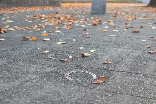 歩道に蹄鉄